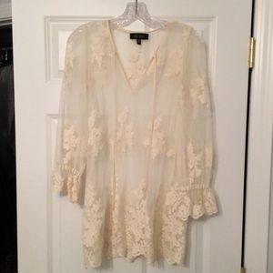 Karen Kane lace blouse